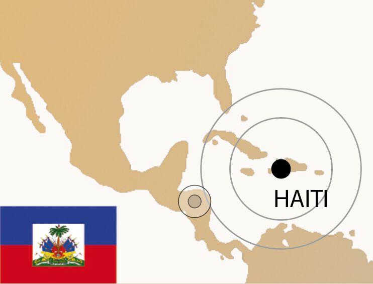 Haiti Weltkarte