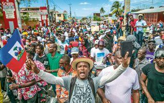 Aktuell kommt es auf Haiti ständig zu neuen Protesten der Massen.