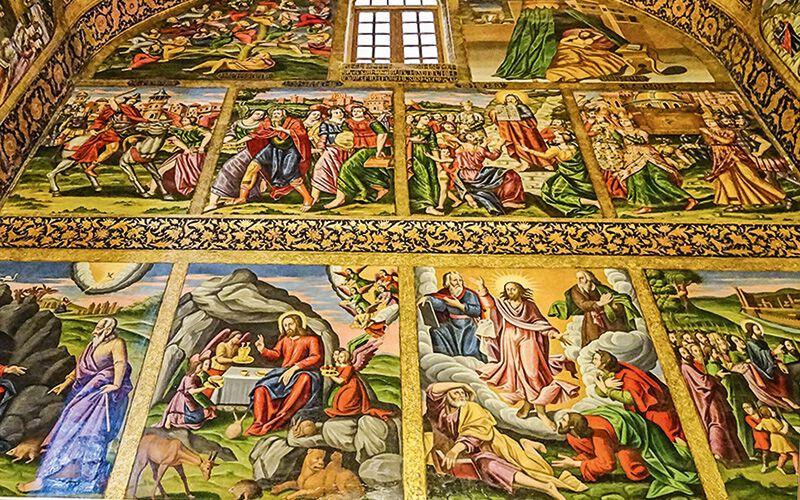 Prachtvolle Fresken aus dem Leben Jesu